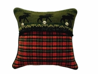 McWoods Cabin Red Plaid Pillow