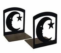 Moon Star Iron Bookends