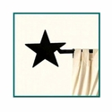 Western Lone Star Short Curtain Rod