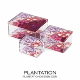 Agoura Lucite Boxes | Amethyst