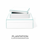 Alana Lacquer Storage Boxes Set | Turquoise
