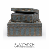 Albert  Boxes Set | Blue-Grey