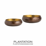 Alexa Metal Bowls Set | Bronze