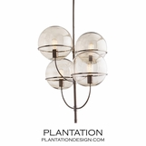 Asa Chandelier | Smoked Glass