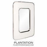 Augusten Rectangular Mirror | White