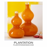 Babylon Glass Vases Set | Orange