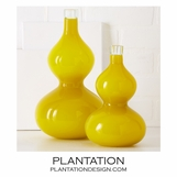 Babylon Glass Vases Set | Yellow