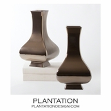 Bellamy Ceramic Vase | Bronze