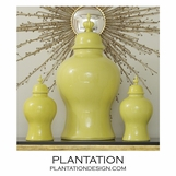 Bellevue Ceramic Jars | Yellow-Green