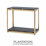 Bernice Console/Shelf | Antique Brass