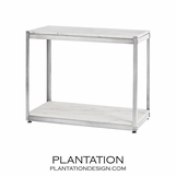Bernice Console Shelf | Antique Silver