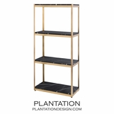 Bernice Shelf | Antique Brass