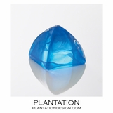 Bijou Art Glass Paperweight | Blue