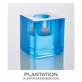 Bijou Art Glass Votive | Blue