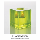 Bijou Art Glass Votive | Chartreuse