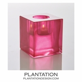 Bijou Art Glass Votive | Fuchsia