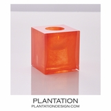 Bijou Art Glass Votive | Orange