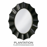 Bonaparte Oval Mirror | Black