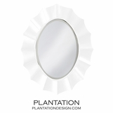 Bonaparte Oval Mirror | White