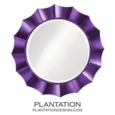 Bonaparte Round Mirror | Bright Purple