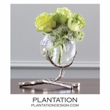 Branches Single Vase | Nickel