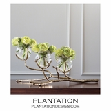 Branches Triple Vase | Brass