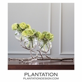 Branches Triple Vase | Nickel