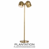 Brockton Floor Lamp | Brass