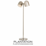 Brockton Floor Lamp | Nickel