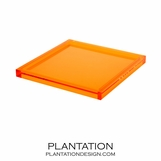 Cavour Lucite Tray | Orange