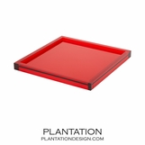 Cavour Lucite Tray | Red