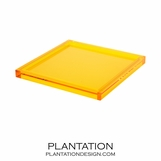 Cavour Lucite Tray | Yellow