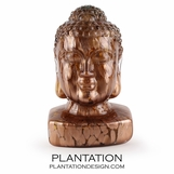 Chen Glass Buddha Head | Gold