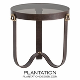 Churchill Leather Side Table