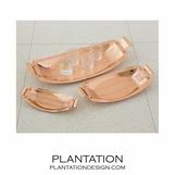 Cleo Hammered Trays | Copper
