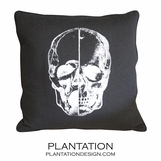Cranio Black Wool Pillow