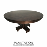 Croft Contemporary Dining Table | Macassar
