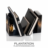 Cubo Luxury Horn Bookends | Black