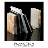 Cubo Luxury Horn Bookends | Ivory