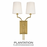 Dahl Double Sconce | Antiqued Brass