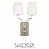 Dahl Double Sconce   Polished Nickel