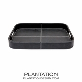 Woodford Leather Tray | Black