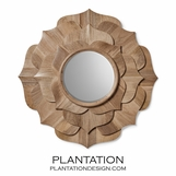 Deshi Wooden Mirror | Natural