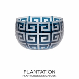 Despina Glass Bowl | Teal