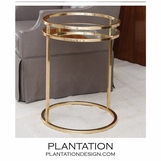 Dorset Side Table | Brass
