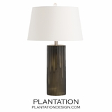 Dyer Glass Table Lamp | White Shade