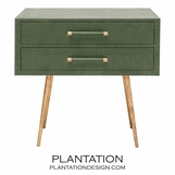Elkie Wide Side Table | Green