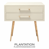 Elkie Wide Side Table | Ivory