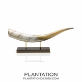 Erba Luxury Horn Sculpture | Macassar