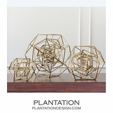 Euclid Geometric Sculptures | Gold